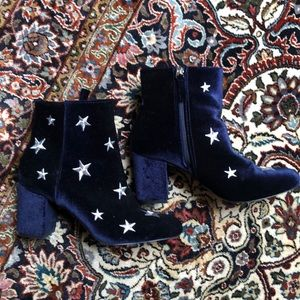 Faux Suede Star Boots